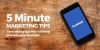Image for 5 minute marketing tip - Schedule Facebook Your Posts -